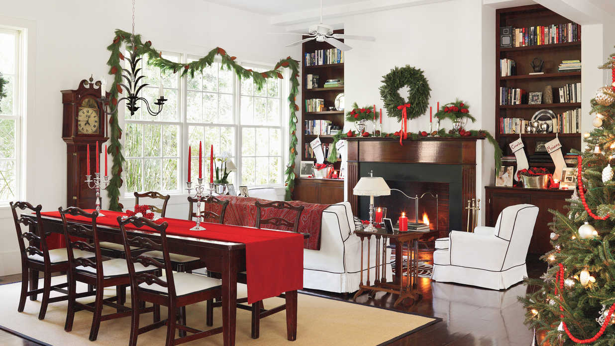 classic style classic christmas decorations in the