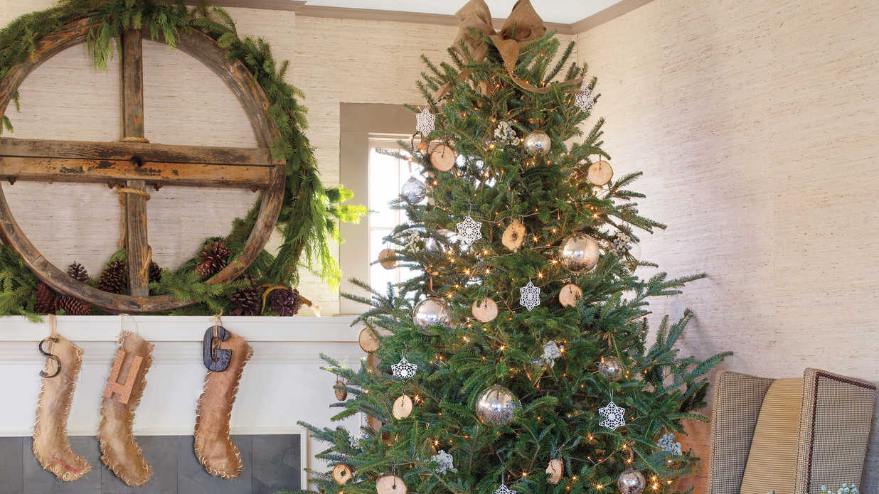 Vintage looking christmas ornaments - Get The Look Rustic Casual Christmas Decorating Ideas Southern Living