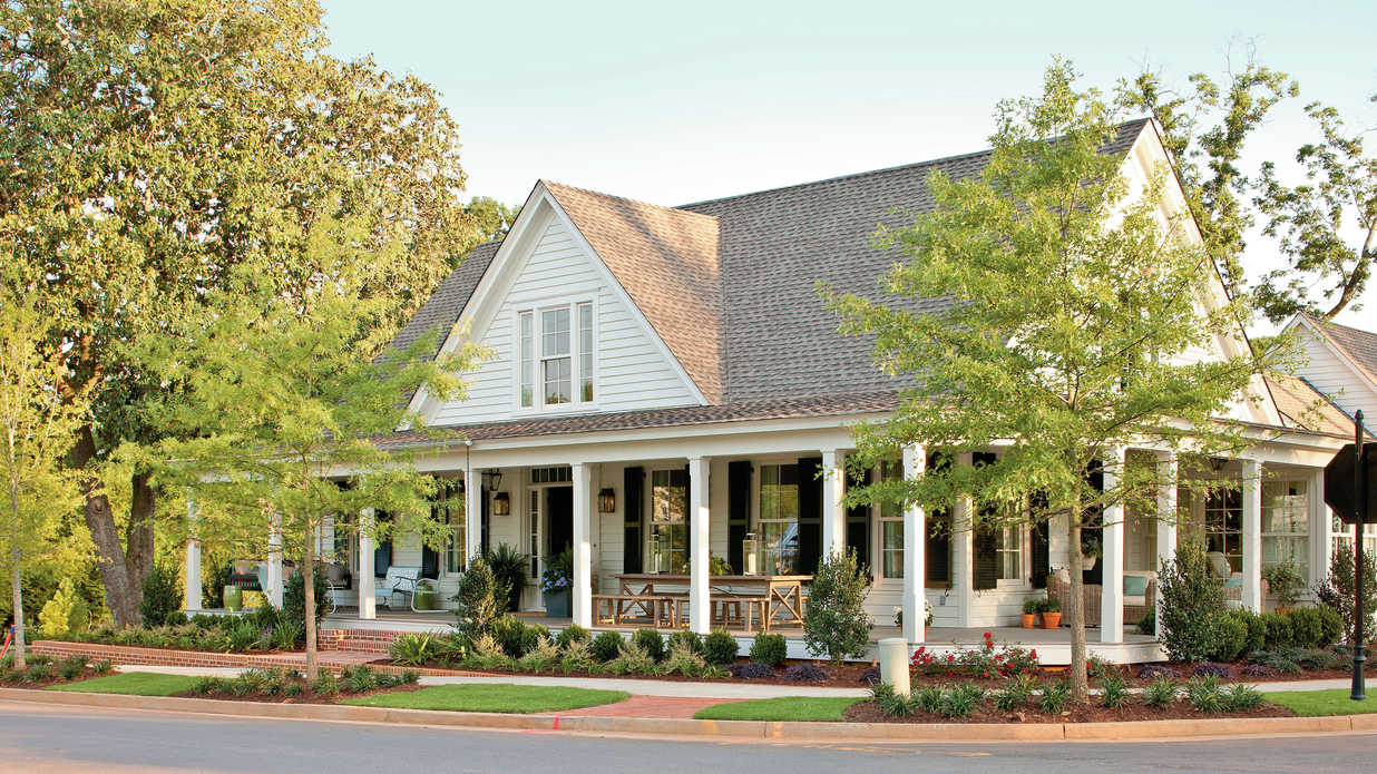 17 house plans with porches southern living - Southern living house plans one story ideas ...