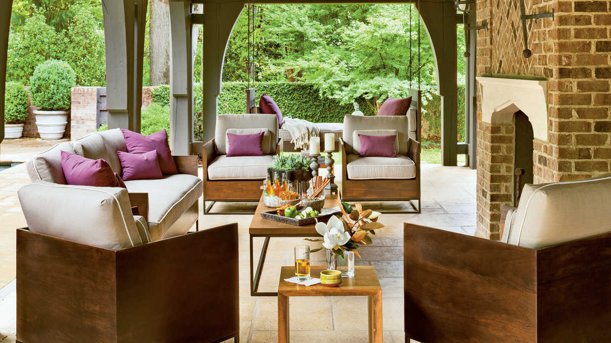 Refined Rustic Back Porch Southern Living