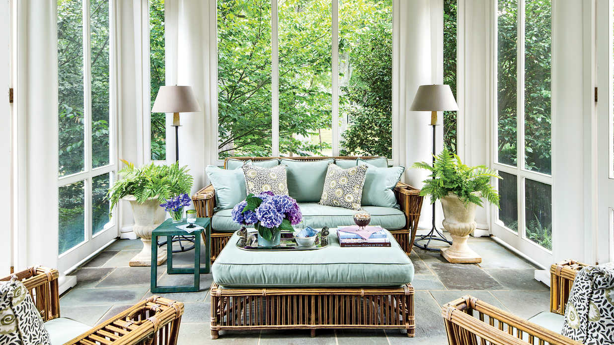Elegant colonial porch porch and patio design inspiration southern living - Elegant colonial architectural designs ...
