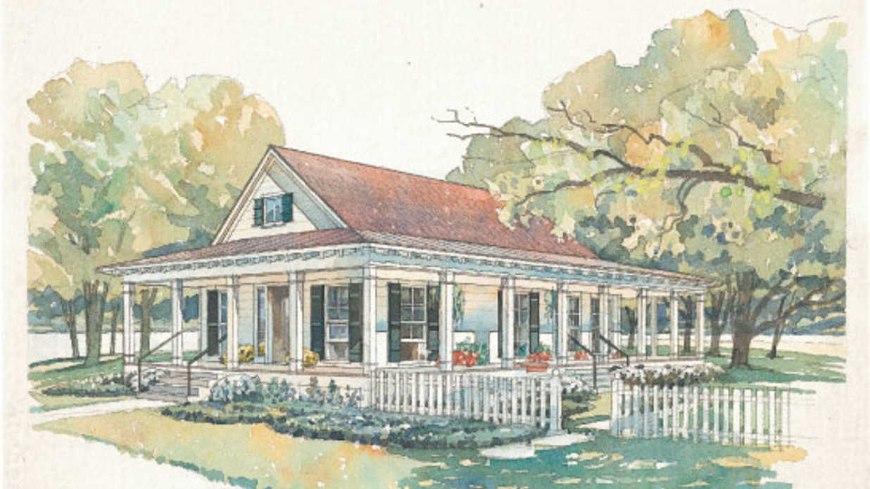 BlufftonPlan     Small House Plans   Southern Living