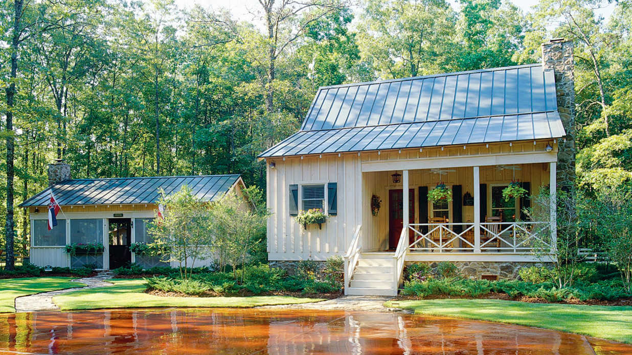 21 tiny houses southern living for Small two story cabin