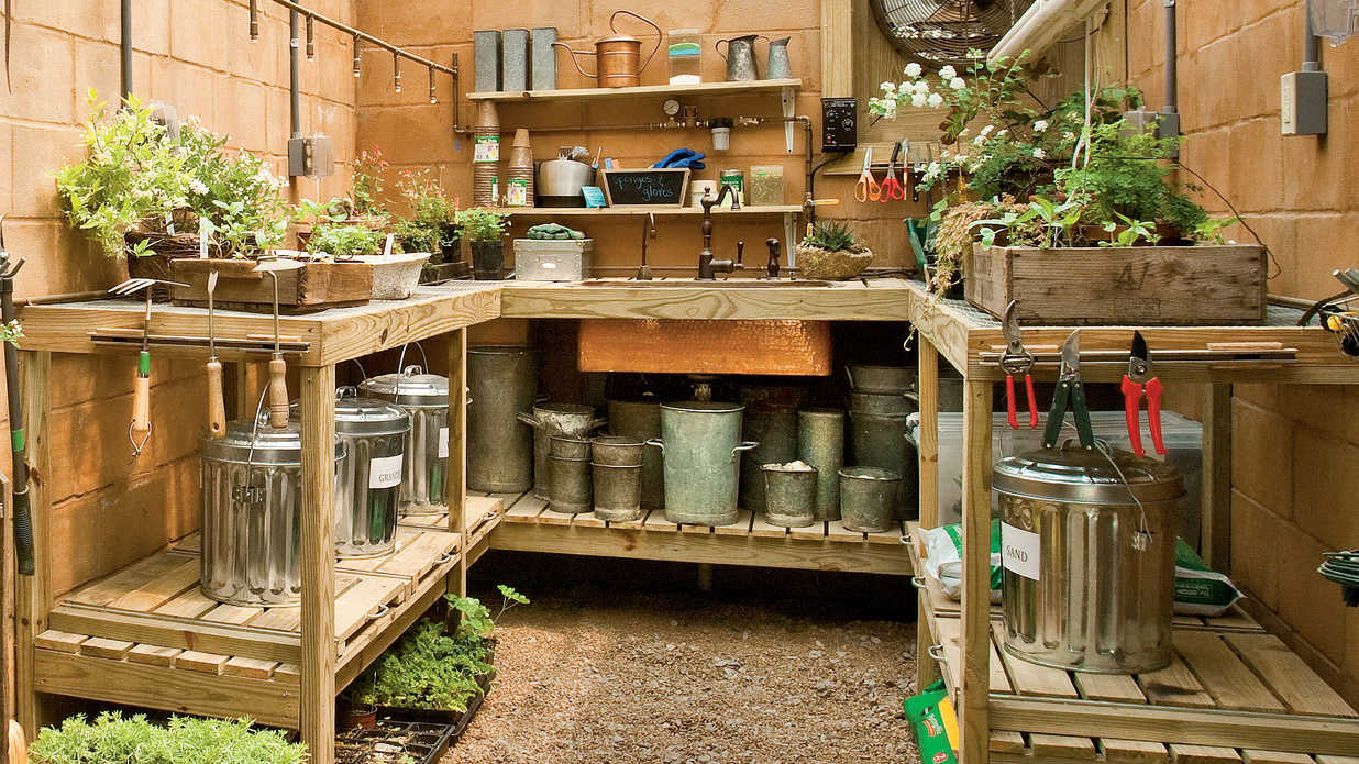 fast inexpensive garage storage ideas - How to Organize Your Garden Shed Southern Living