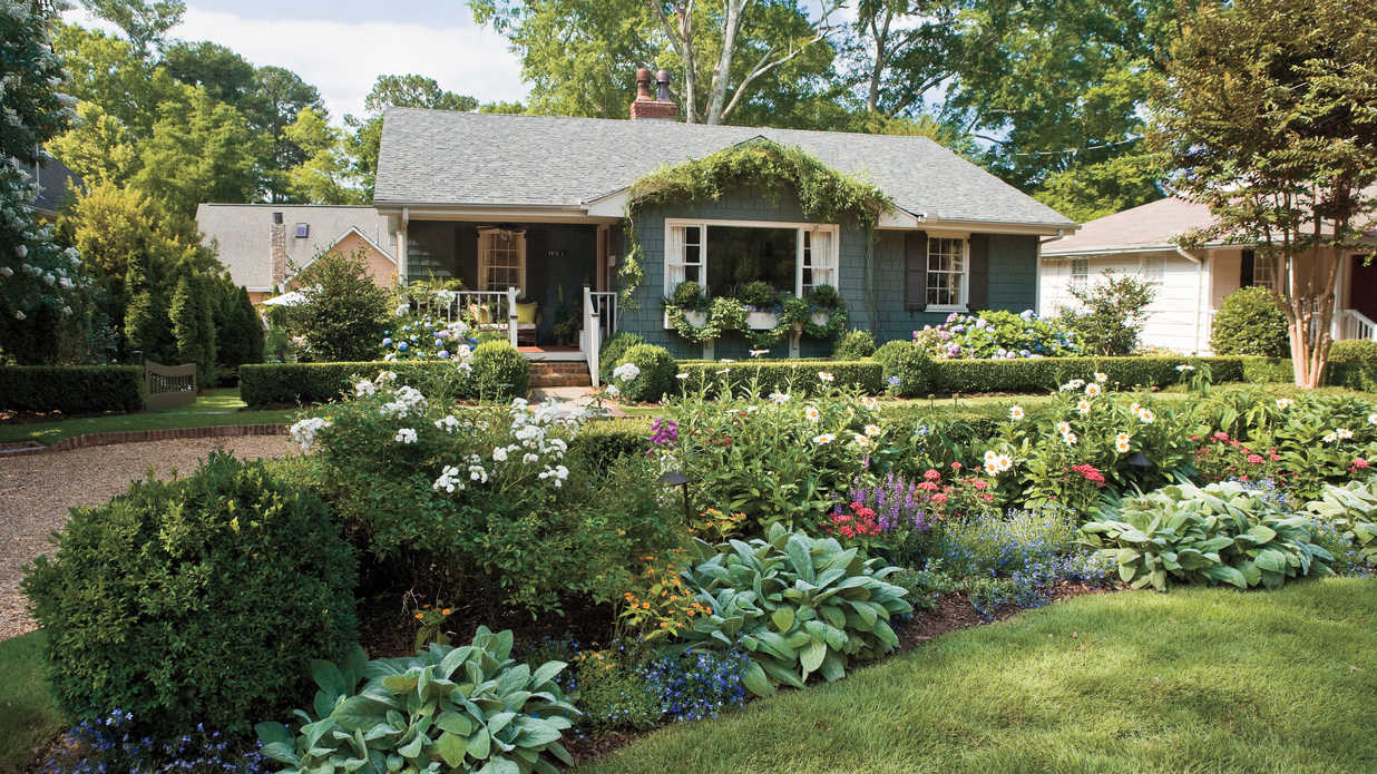 Flower Beds In Front Of House hen how to Home Decorating Ideas
