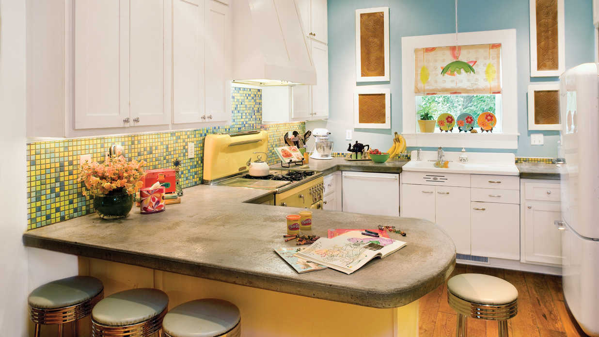Kitchen countertops southern living for Southern living kitchen designs