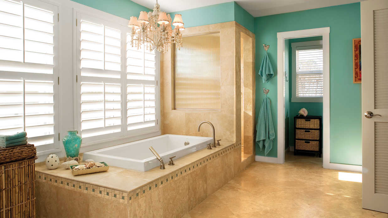 7 beach inspired bathroom decorating ideas southern living for Jamaican bathroom designs