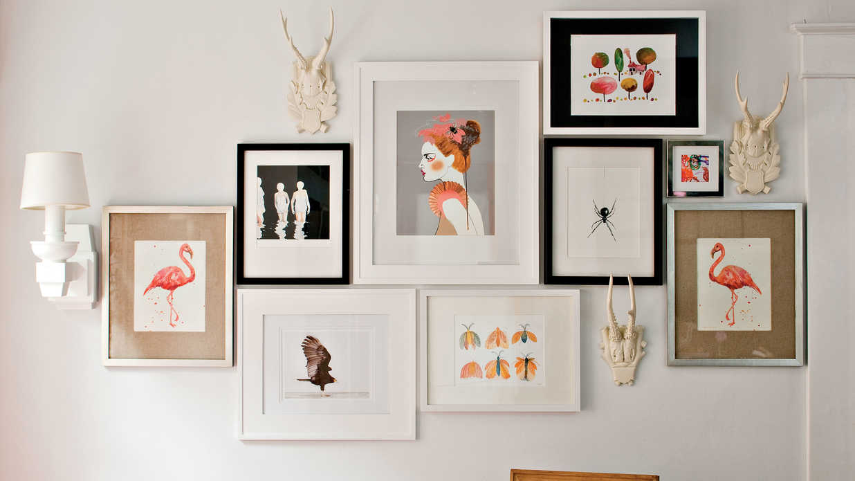 Art Gallery Wall 4 tricks for hanging a gallery wall - southern living