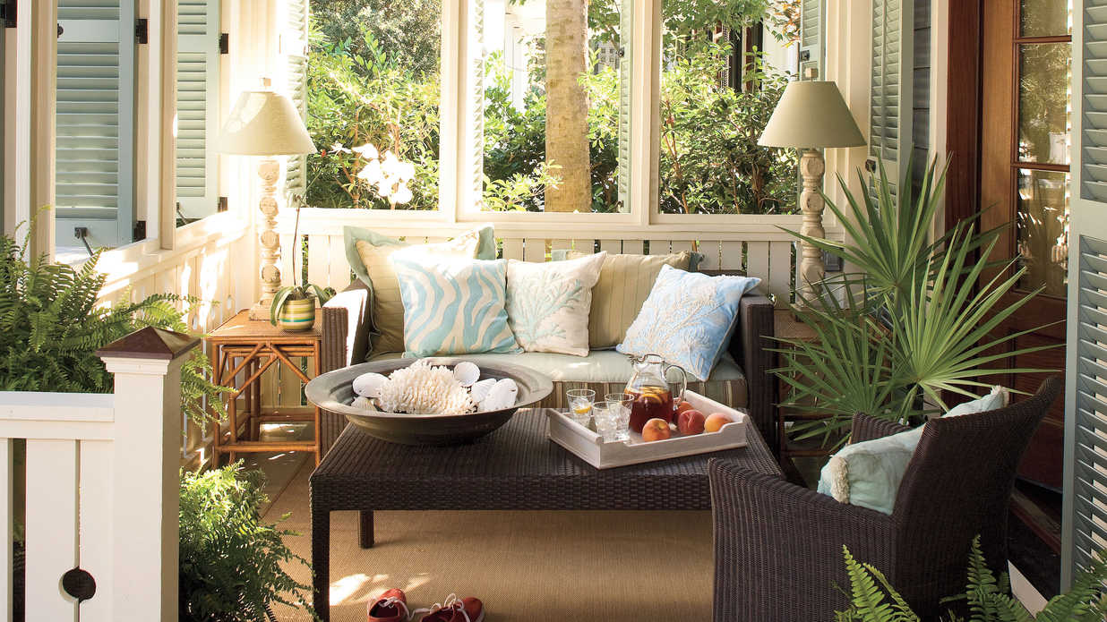 outdoor living rooms.  Outdoor Rooms Southern Living