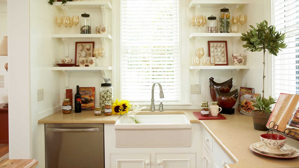 Habersham home tour southern living for Southern living kitchen designs