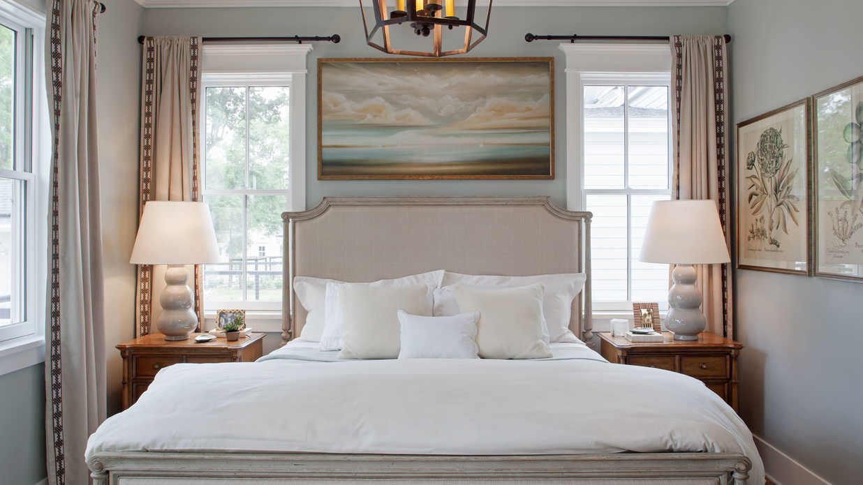 Master bedroom southern living inspired home at for Southern bedroom designs