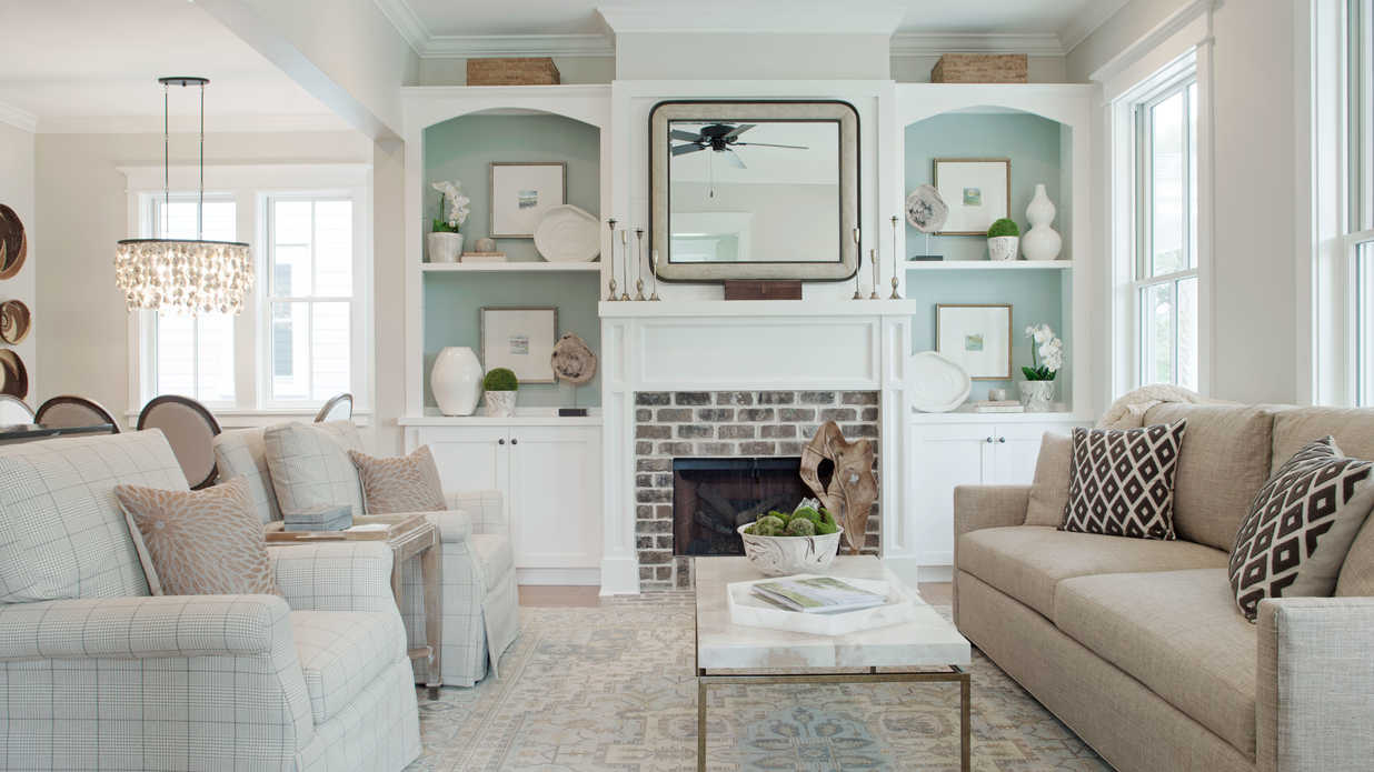 living room southern living inspired home at habersham