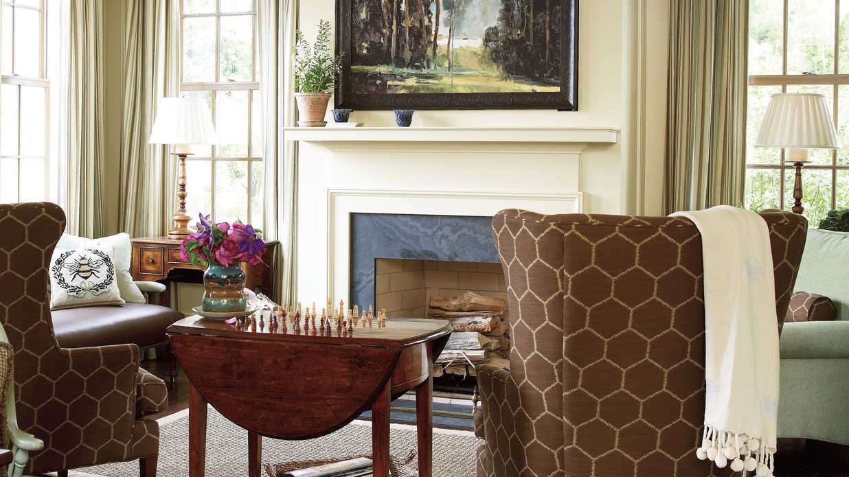 Keeping room fireplace 25 cozy ideas for fireplace for Southern living keeping room ideas