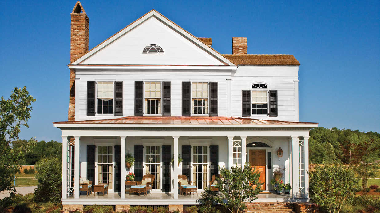 Front Elevation Of House Without Balcony : House plans with porches southern living