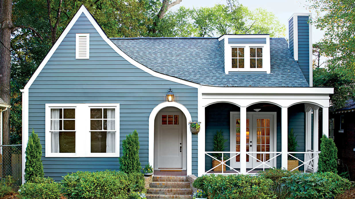 Best exterior makeover southern living for What color roof should i get for my house
