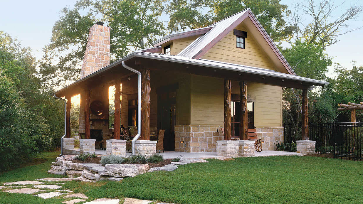 Cabins cottages under 1 000 square feet southern living for Rustic home plans with cost to build