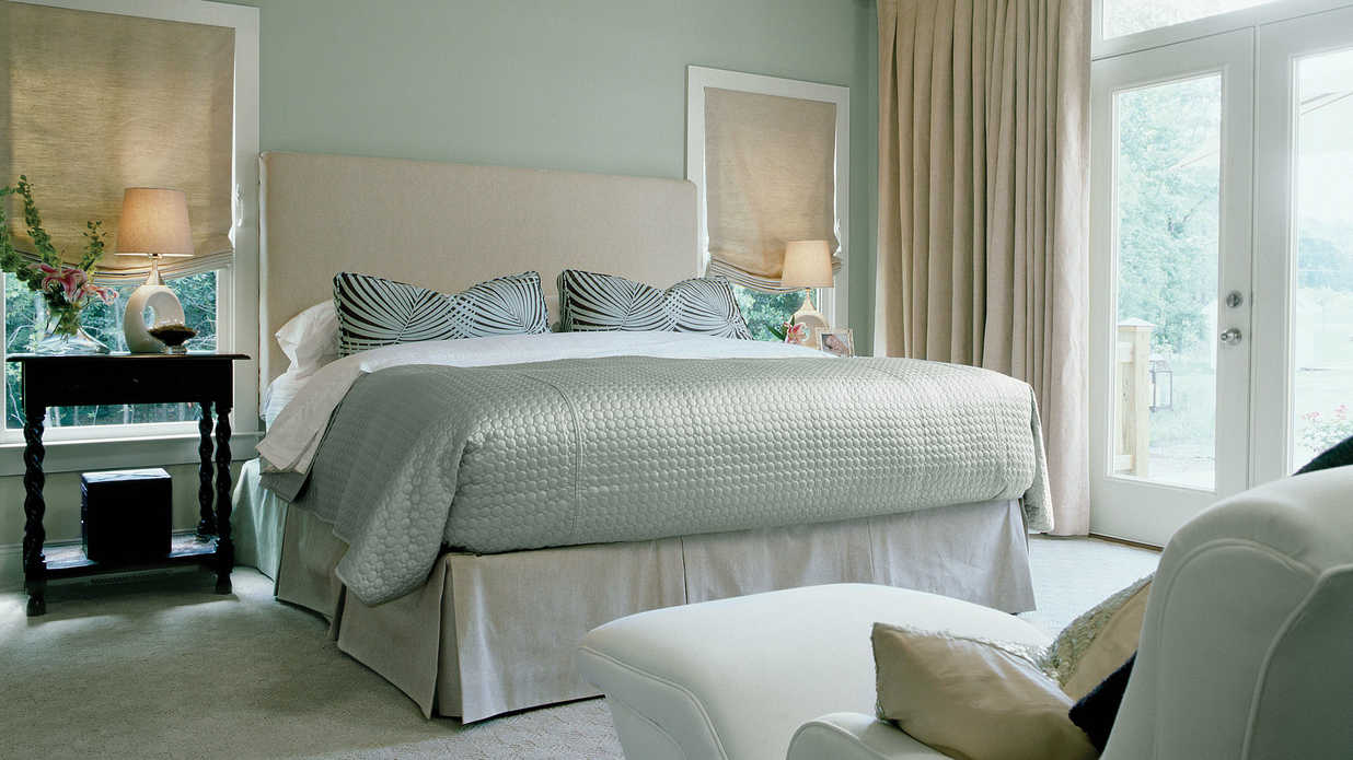 Master Bedroom Hotel affordable hotel-style master bedroom makeover - southern living