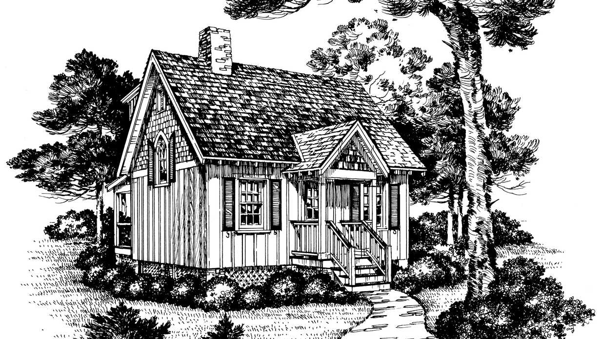 Eagle 39 s nest plan 739 cabins cottages under 1 000 for Cottages under 1000 square feet