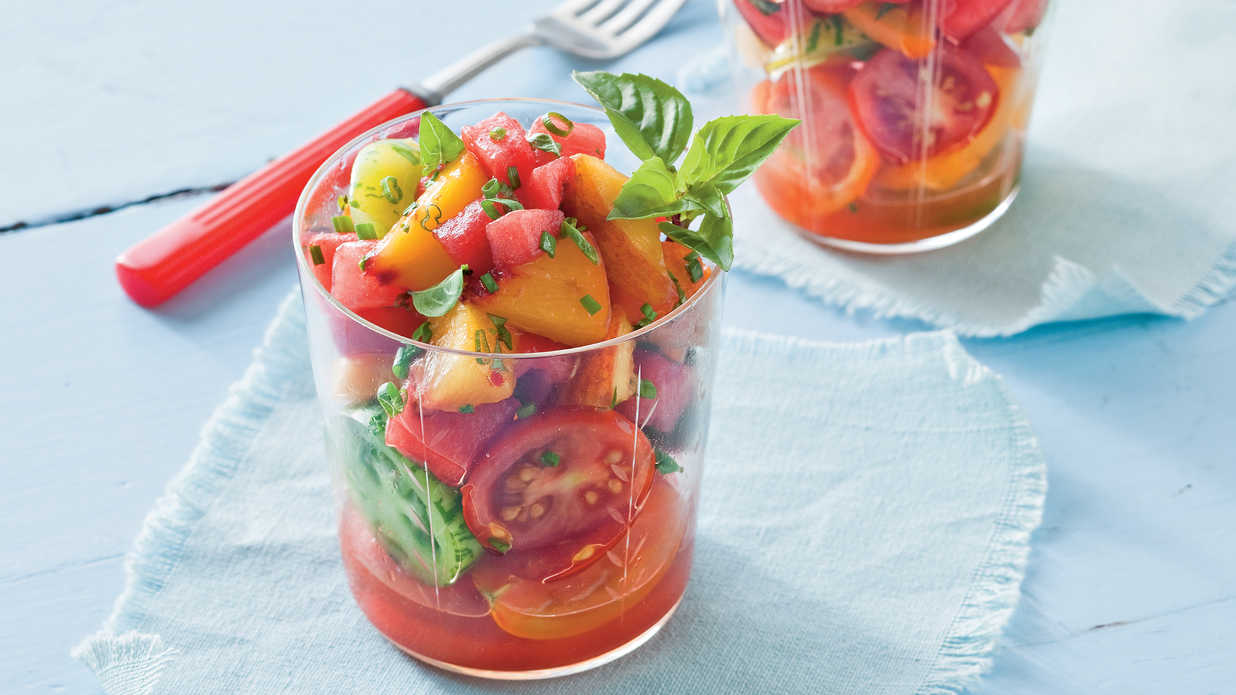 Watermelon-Peach Salsa and Tomatoes - Fresh Tomato Recipes - Southern ...