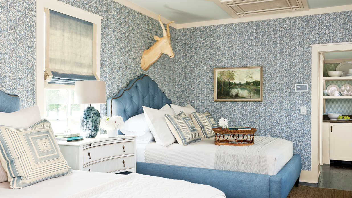 Beautiful blue bedrooms southern living Blue bedroom