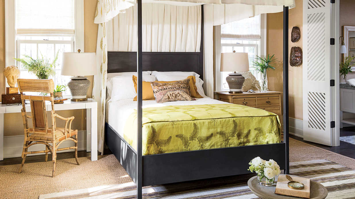 Idea house master bedroom by lauren liess southern living for Southern bedroom designs