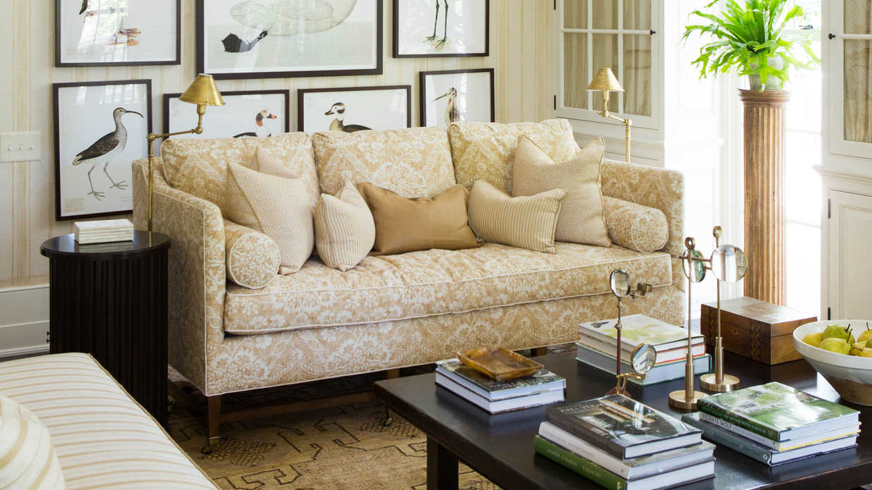. Idea House Living Room by Mark D  Sikes   Southern Living