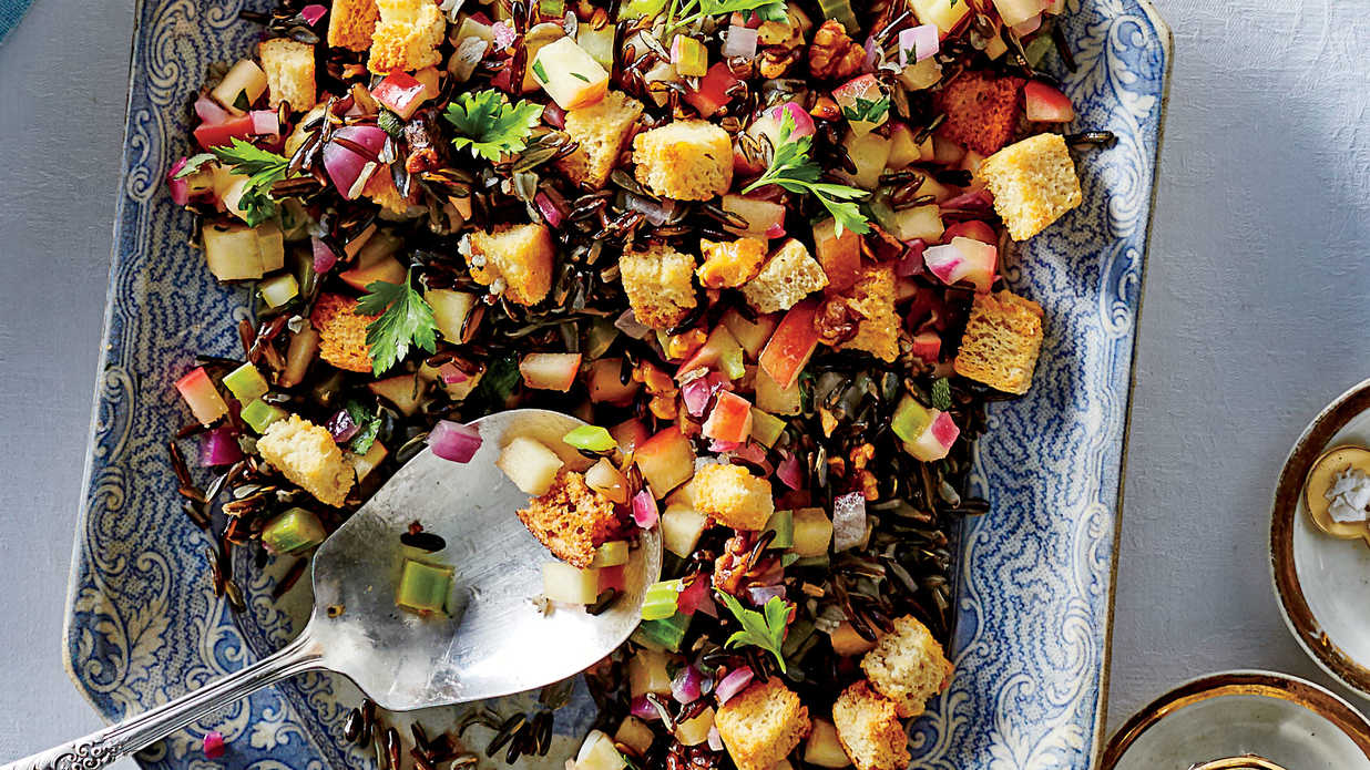 Herbed Wild Rice Dressing Recipe Southern Living