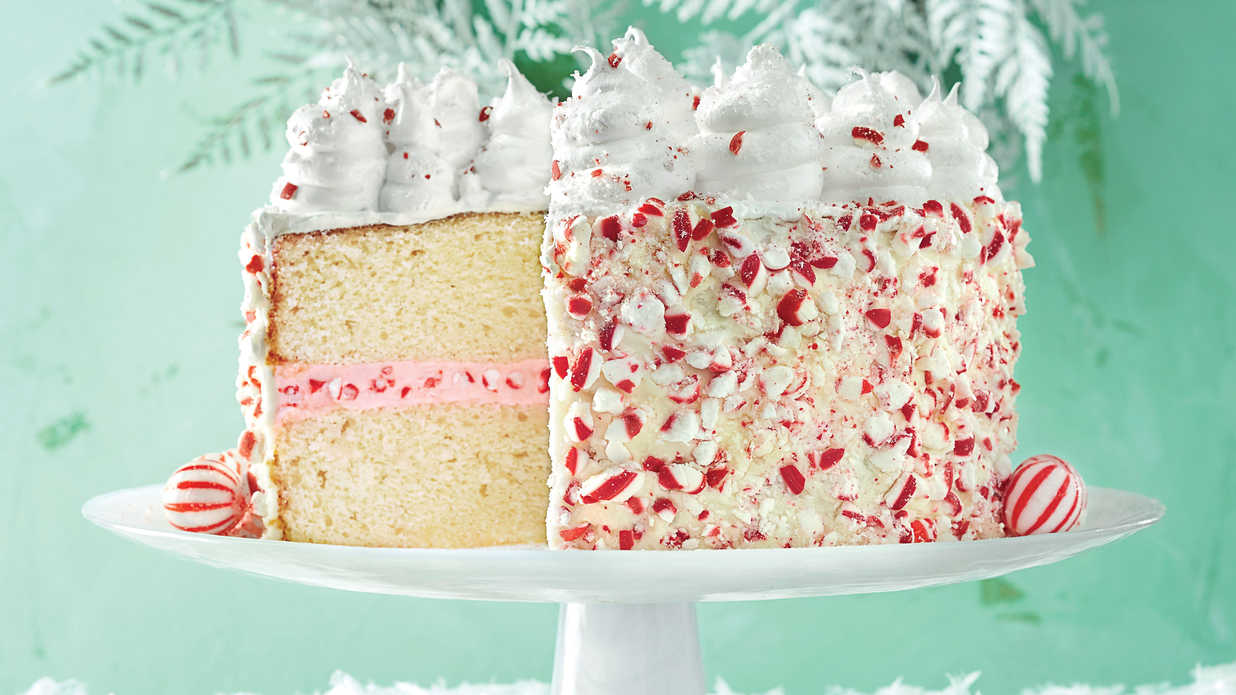 Peppermint Cake With Seven Minute Frosting Southern Living