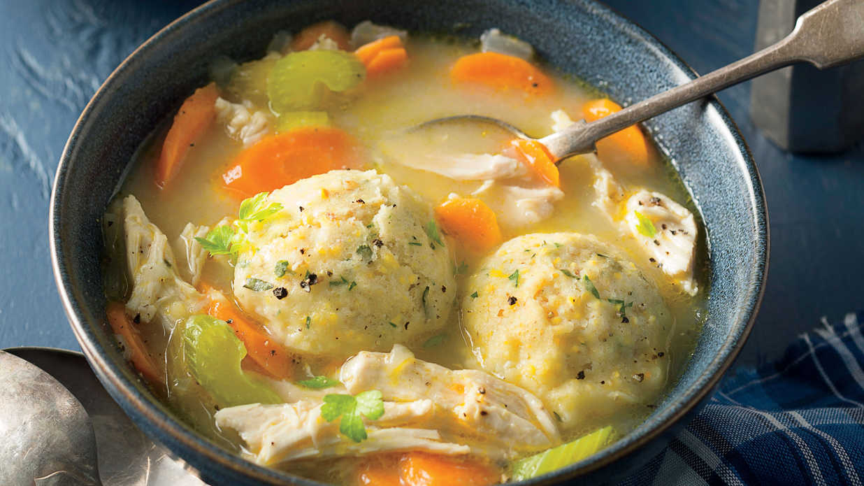 chicken and herbed cornmeal dumplings recipe