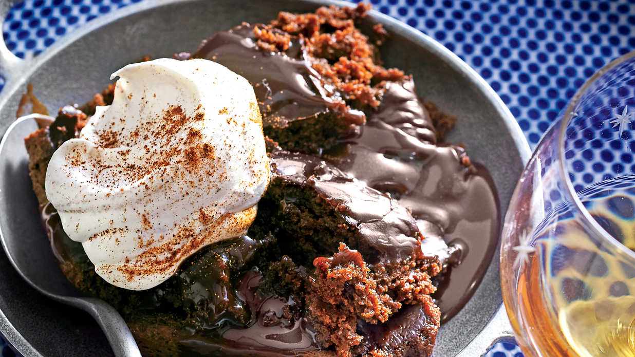 Chocolate Lava Cake with Cinnamon Whipped Cream Recipe - Southern ...