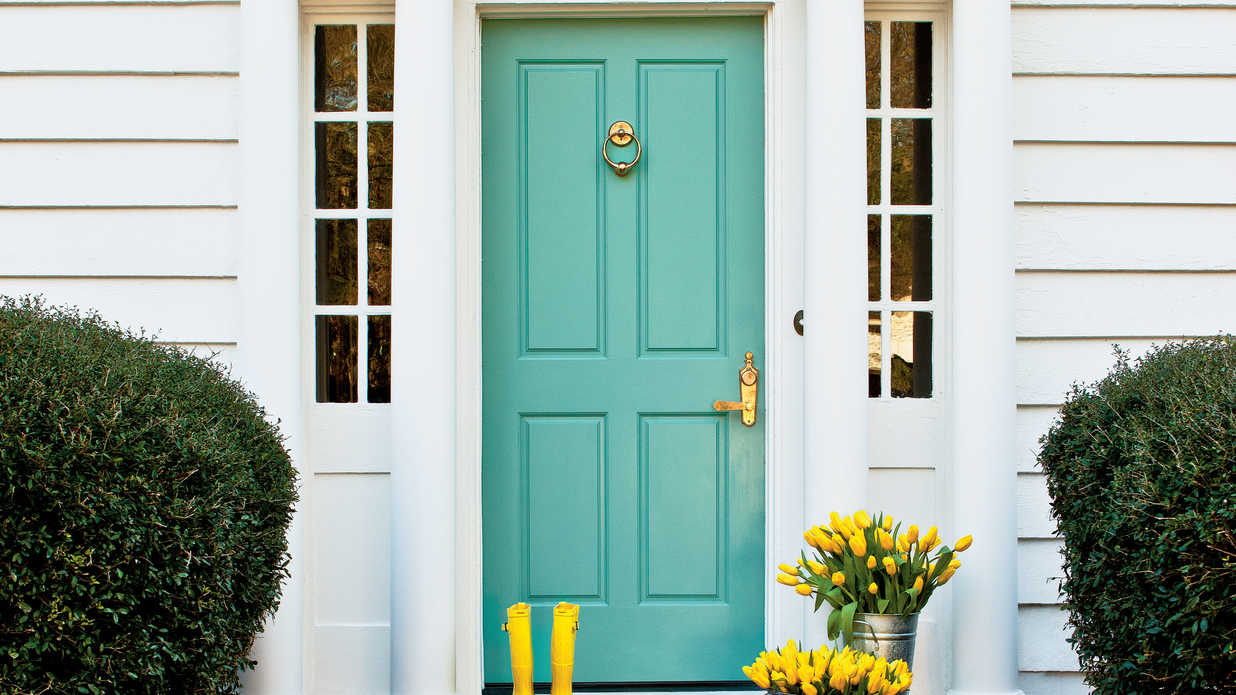 exterior door paint black tips for painting your front door southern living