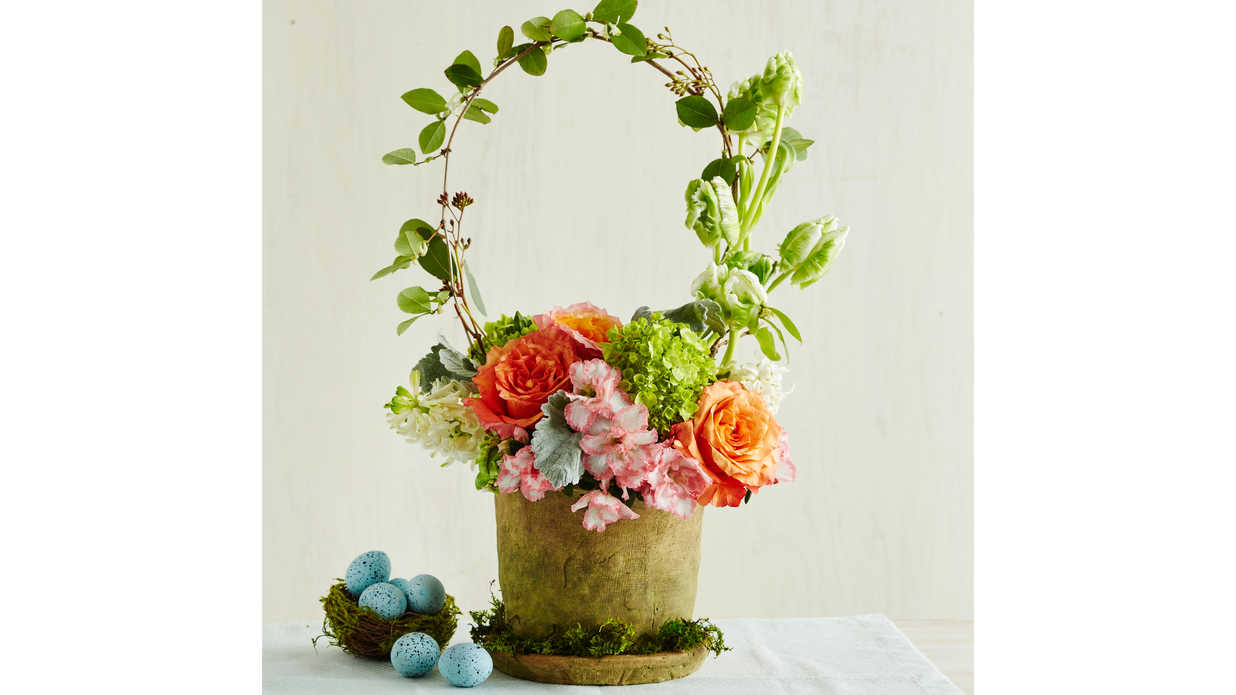 easter basket centerpiece only looks tricky to pull off southern