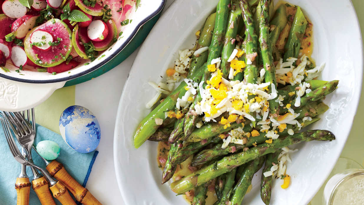 Tarragon Asparagus With Eggs Recipe Southern Living