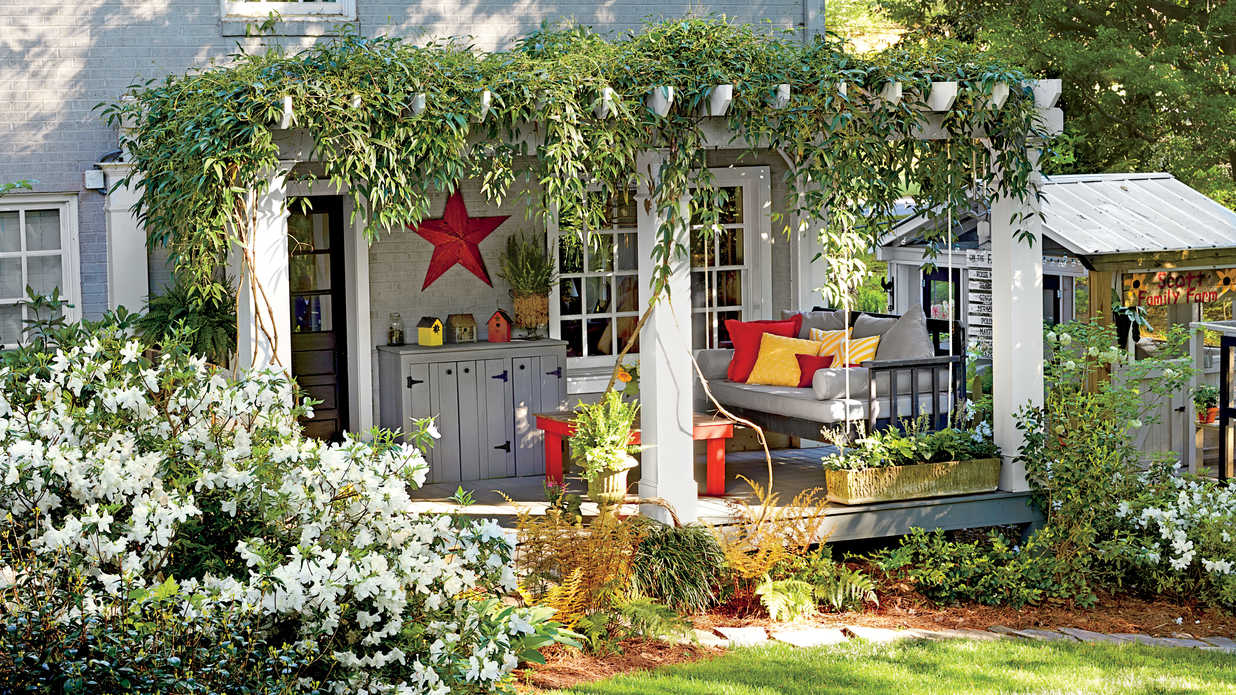 Before and after yard makeovers that will make your jaw for Southern homes and gardens house plans