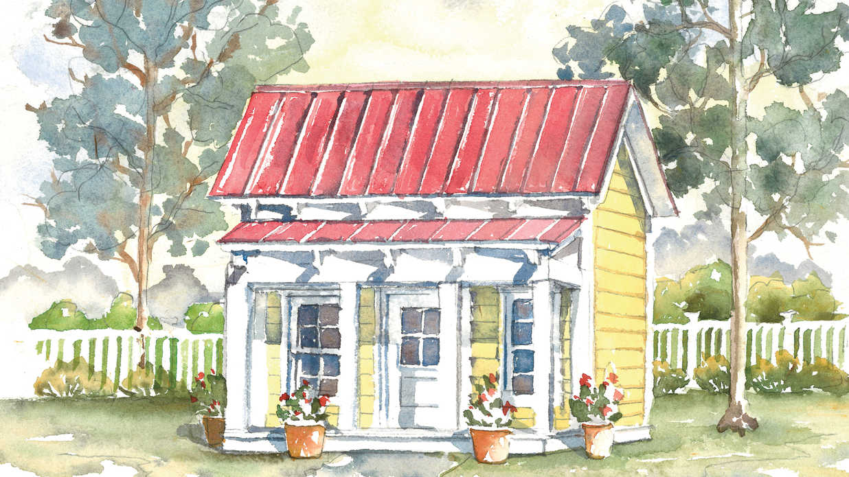 House plan 1953 is going to the dogs southern living for Dog trot house plans southern living