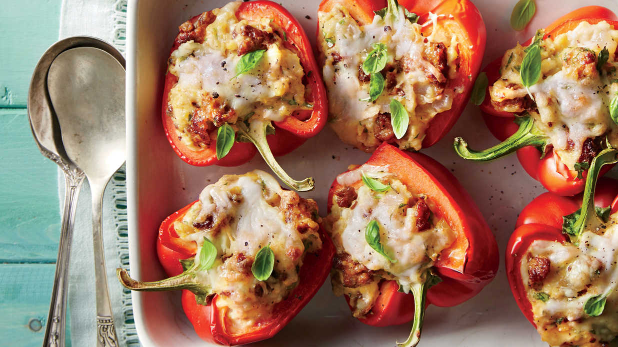 Stuffed Peppers with Grits and Sausage Recipe