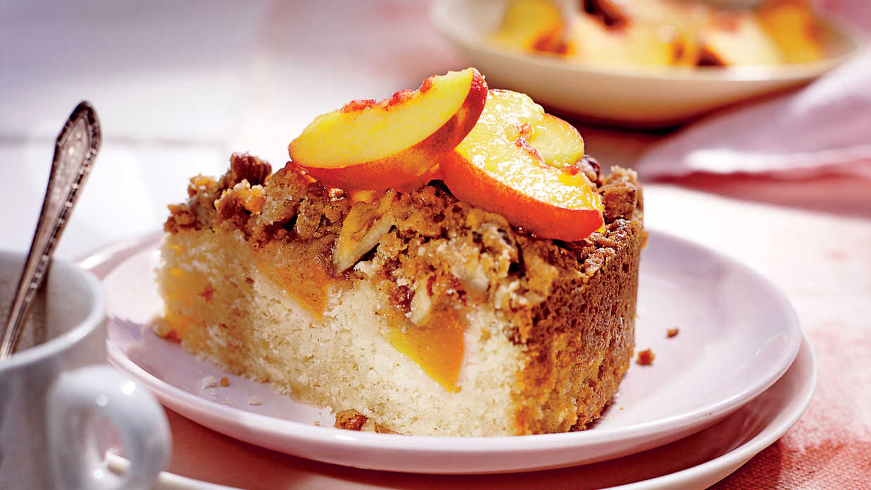 peach coffee cake fresh coffee cake with pecan streusel recipe 6402
