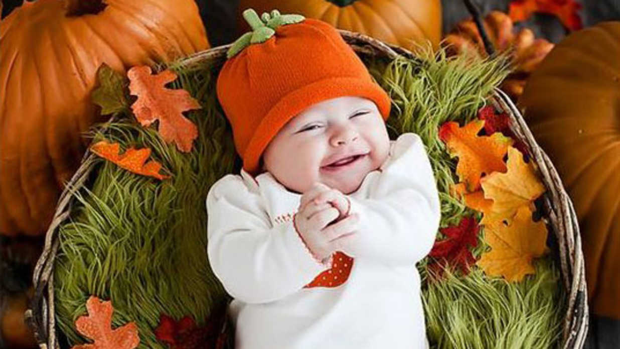 16 Adorable Photos of Babies and Pumpkins to Make Your Day