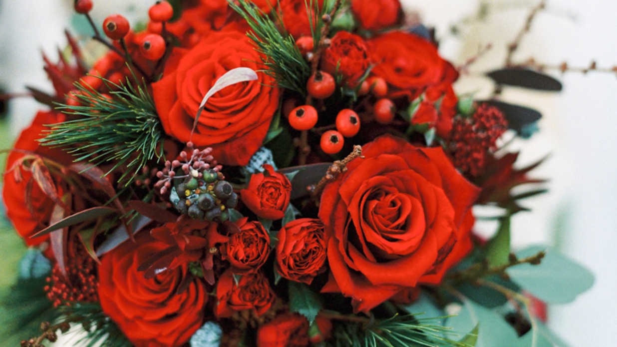 Merry and Bright Christmas Wedding Bouquets - Southern Living