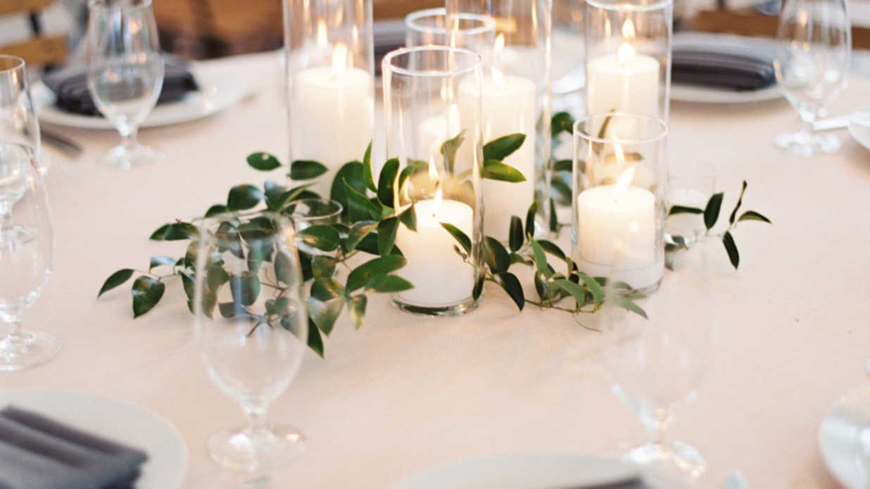 Beautiful Centerpieces Created With Candles