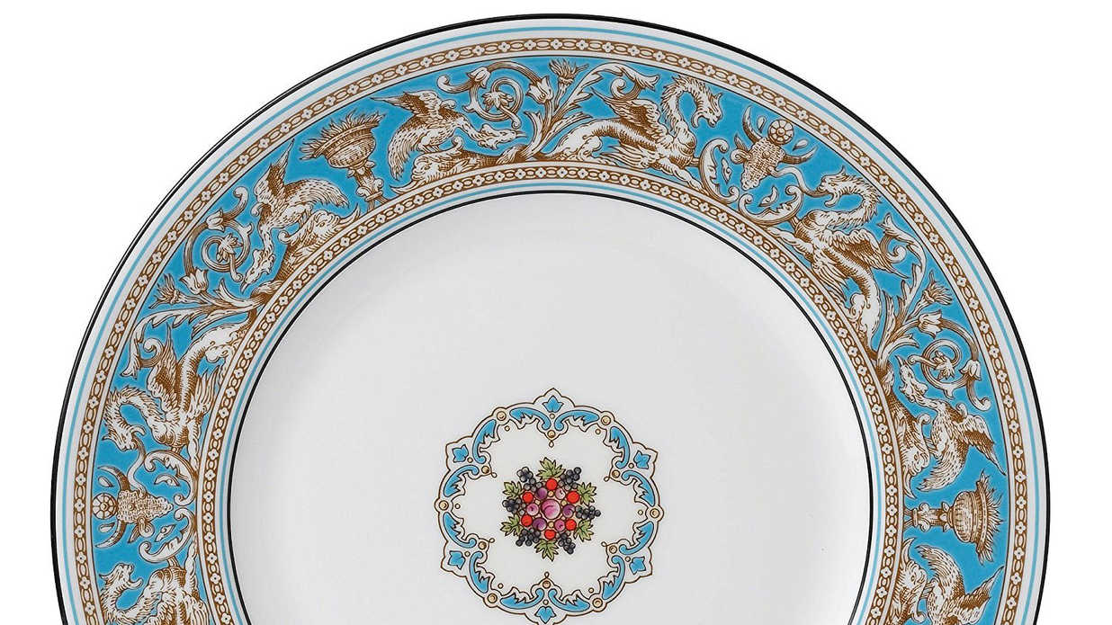What Asian style angle dinnerware deep colors something