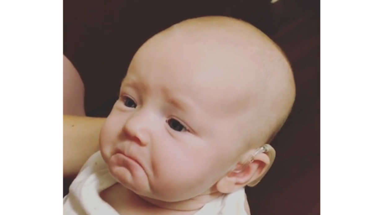 pics Baby Who Is Deaf Has Incredible Reaction to Hearing Her Mom Say I Love You for First Time