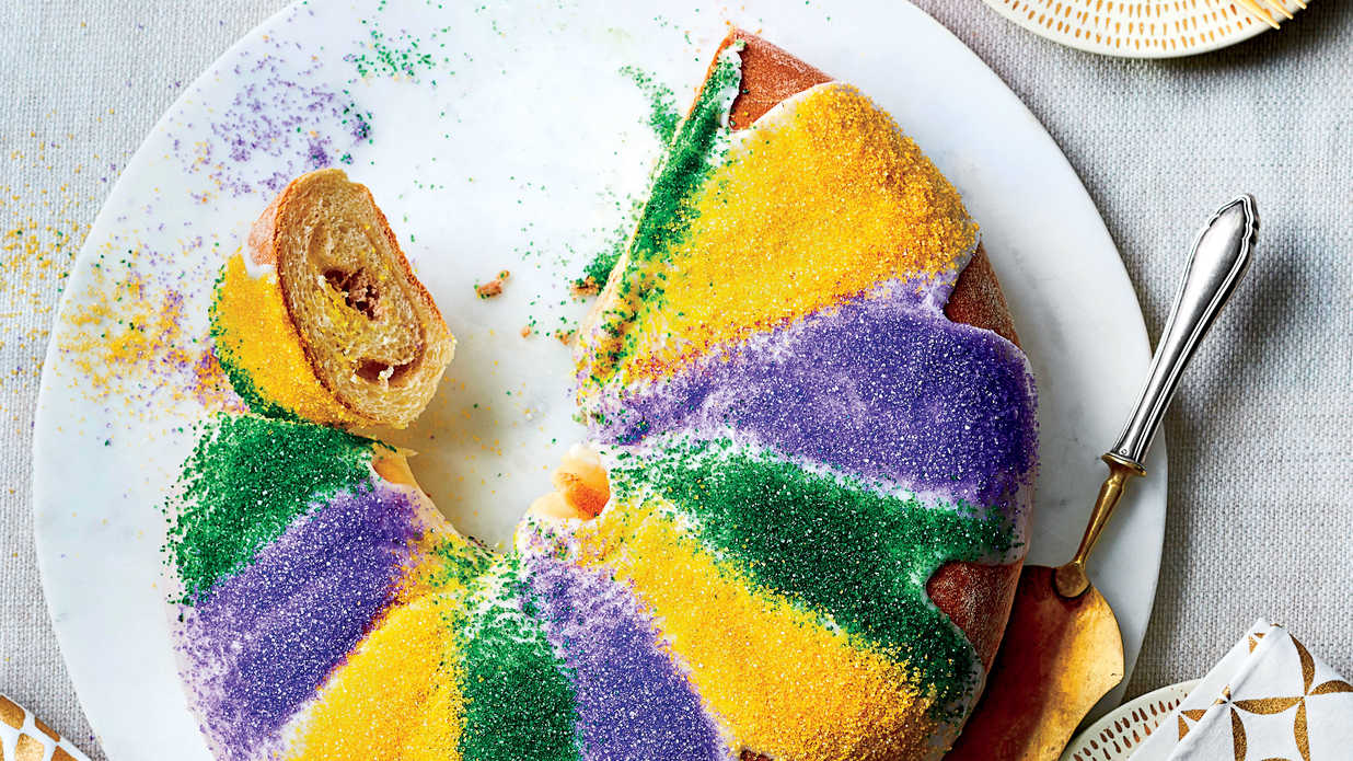 Praline-Cream Cheese King Cake Recipe