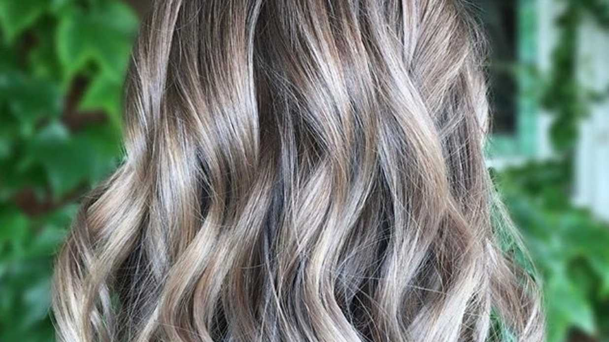Light Ash Brown Hair With Silver Highlights