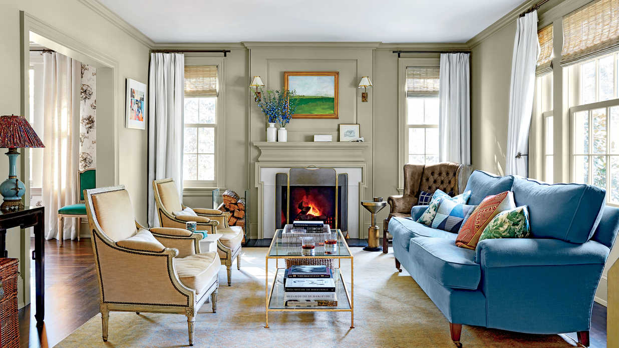 Prepare to fall in love with this 1930s colonial home - Federal style interior paint colors ...