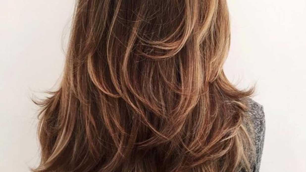layered long hair style gorgeous layered haircuts for hair southern living 8326 | chocolate brown hair with highlighted layers