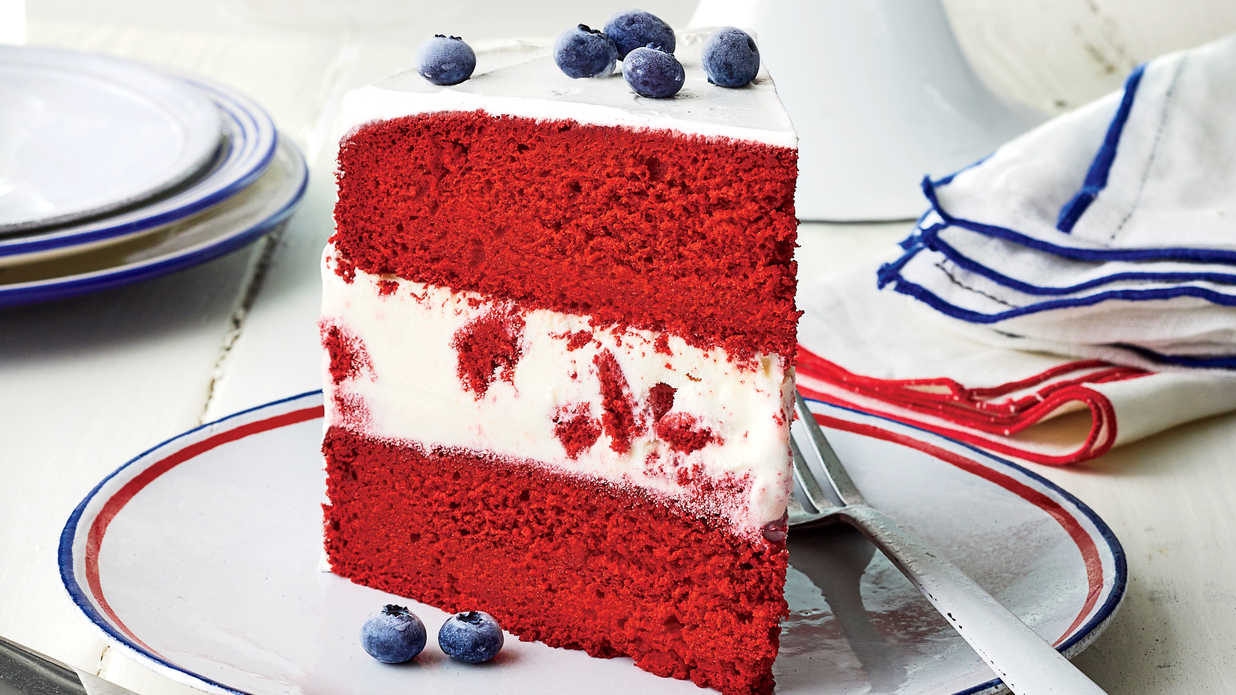 Red Velvet Ice-Cream Cake Recipe