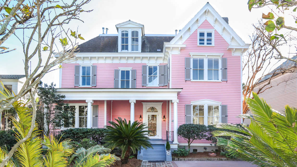 This Pink Charleston Charmer on Prestigious South Battery Is Listed for $3.64 Million