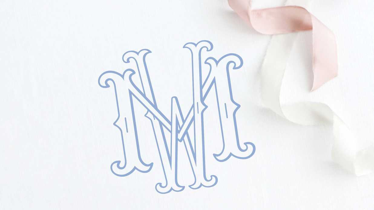 These Custom Wedding Monogram Styles are a Steal on Etsy