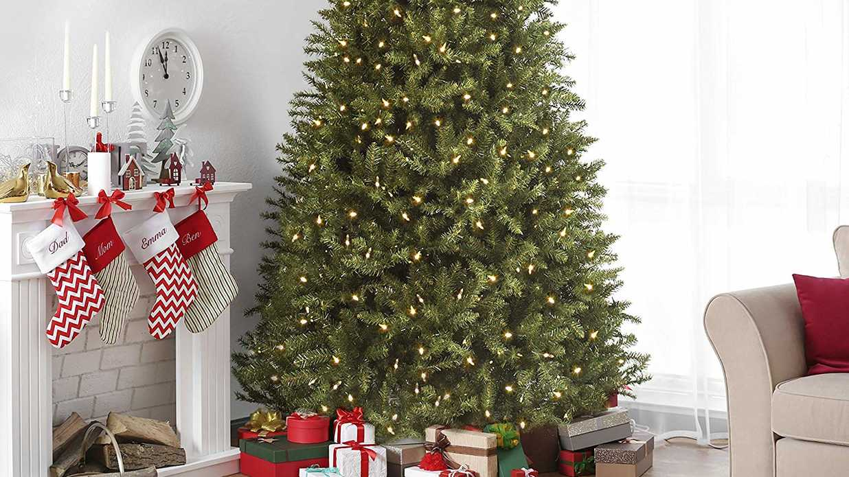 16 best artifical christmas trees fake holiday trees that look real southern living - Martha Stewart 75 Foot Christmas Trees